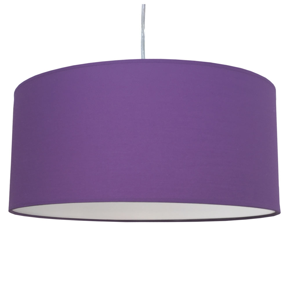 Drum Ceiling Shade Royal Purple